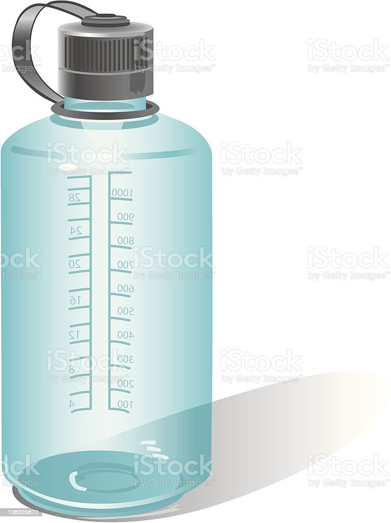 Water Bottle Aqua vector art illustration