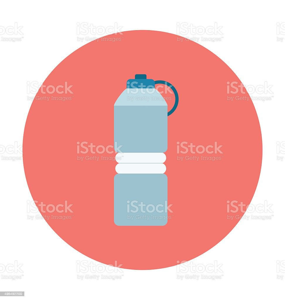 Water Bottle Colored Vector Icon vector art illustration