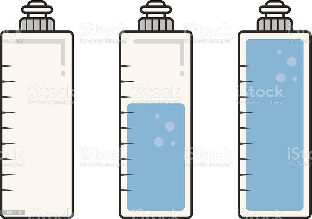 Water Bottle Fills vector art illustration