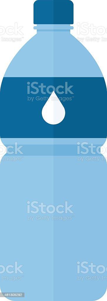 Water bottle icon, modern minimal flat design style, vector illustration vector art illustration