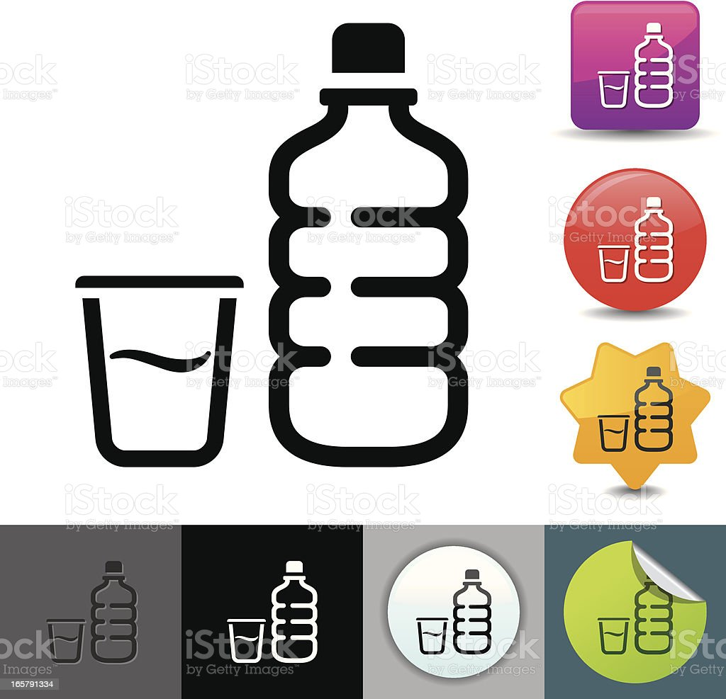 Water bottle icon | solicosi series vector art illustration