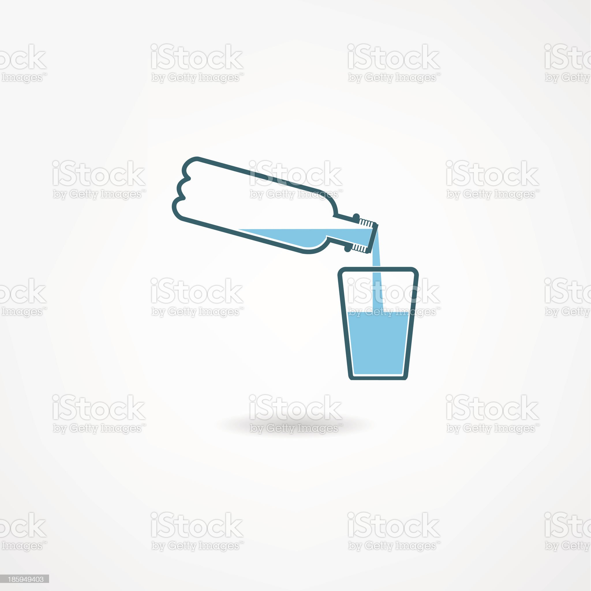 water bottle royalty-free stock vector art