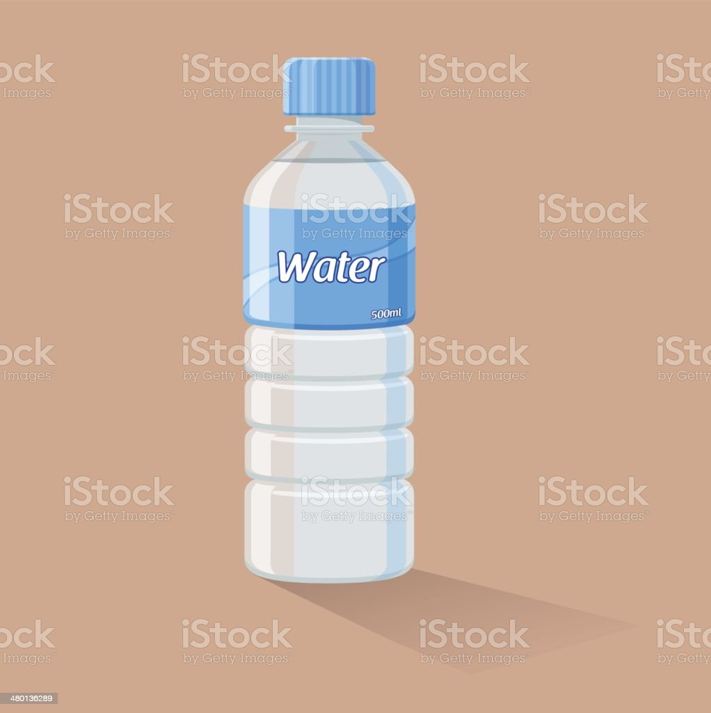 Water Bottle vector art illustration