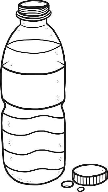 Open Plastic Bottle Clip Art, Vector Images ...