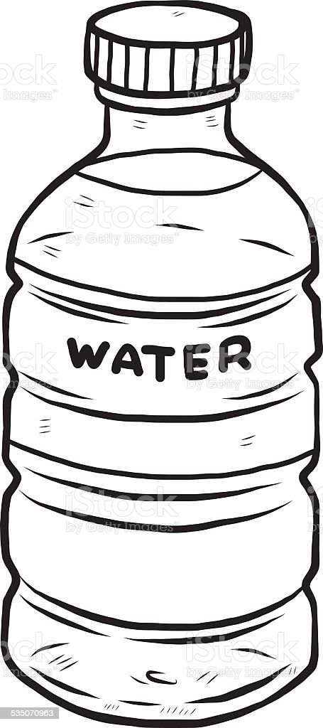 Line Drawing Jug : Water bottle stock vector art istock