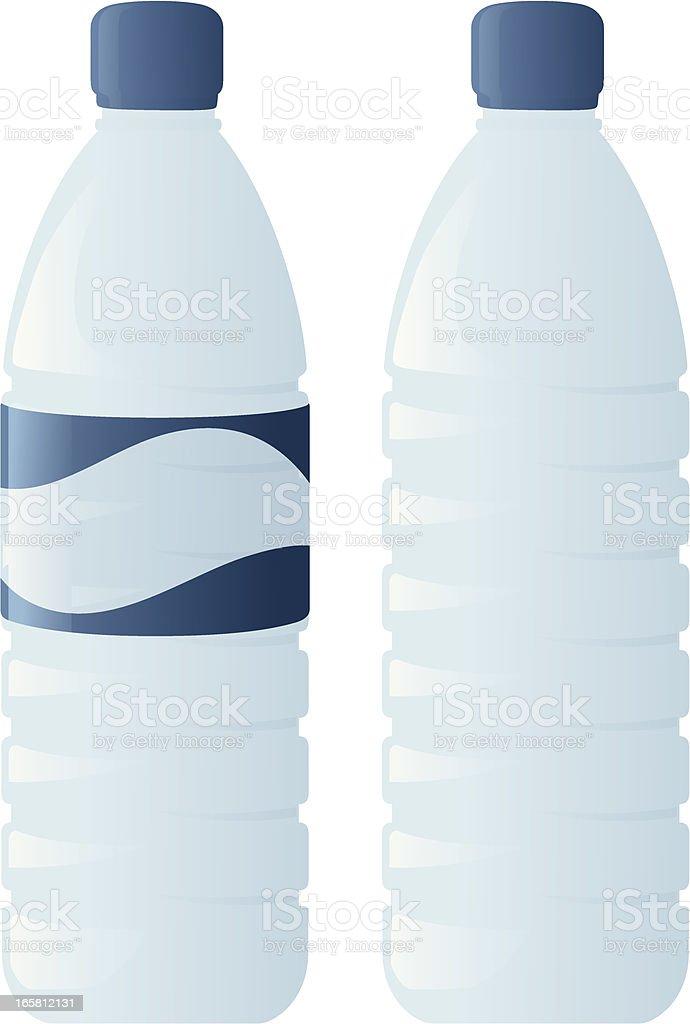 Water Bottles vector art illustration