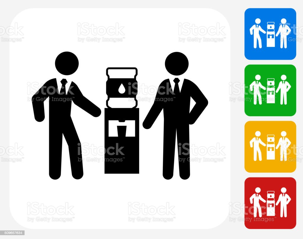 Water Break Icon Flat Graphic Design vector art illustration