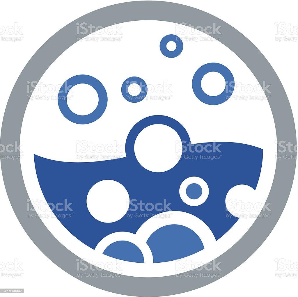 Water bubble circle logo vector illustration vector art illustration