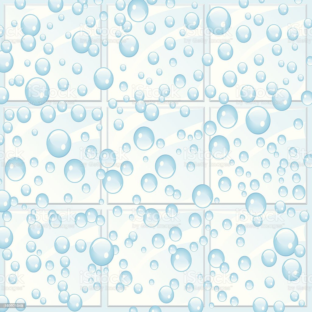 Water Bubbles on Tile Background royalty-free stock vector art