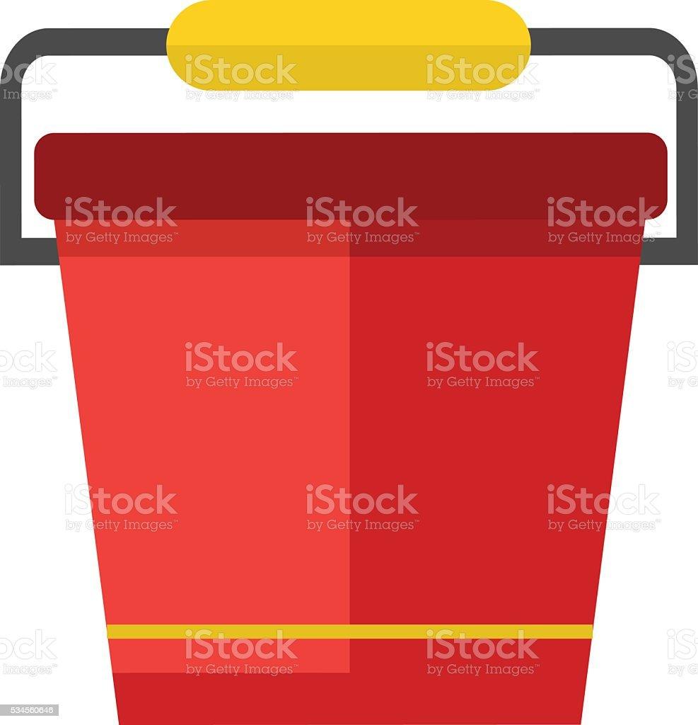 Water bucket vector illustration. vector art illustration