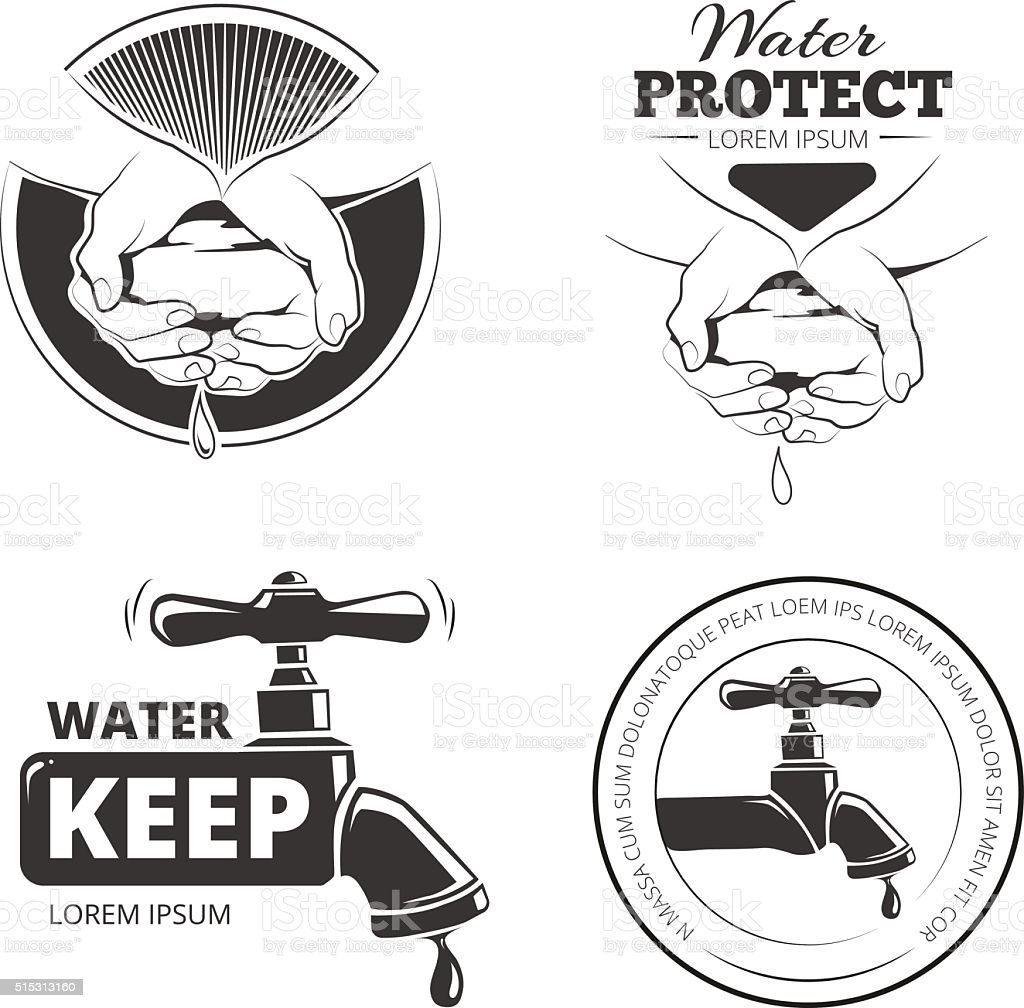 water care vector art illustration