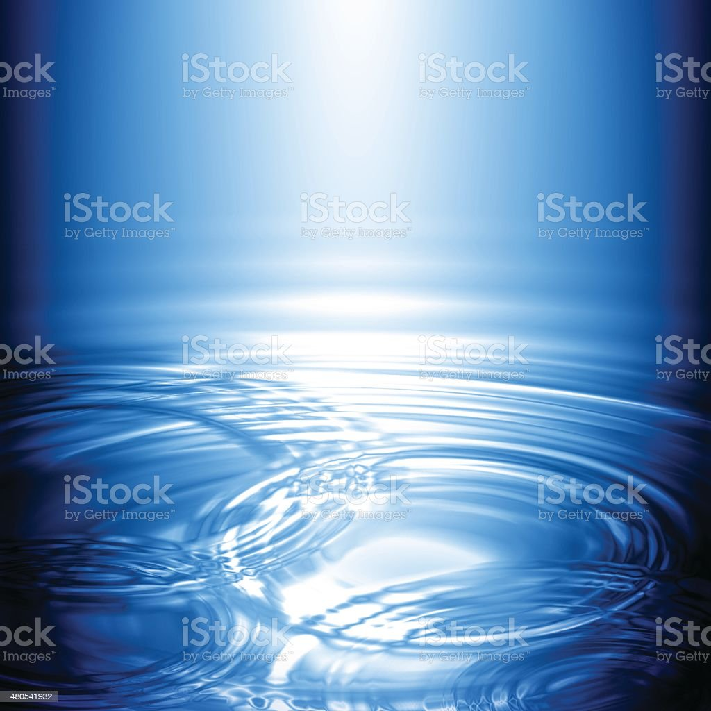 Water Concentric Ripple Wave Radial Rain Light Background vector art illustration