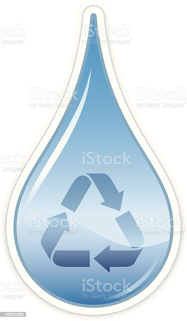 Water conservation vector art illustration
