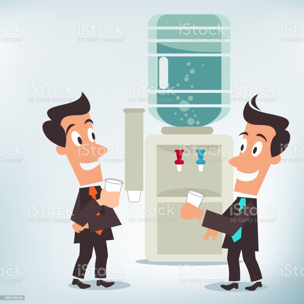 Water Cooler Chat vector art illustration