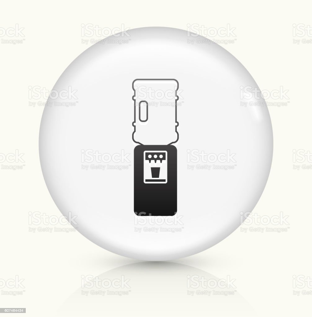 Water Cooler icon on white round vector button vector art illustration