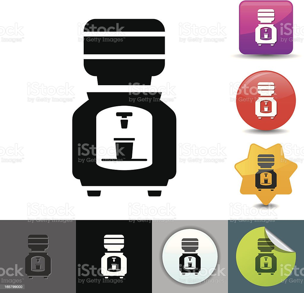 Water cooler icon | solicosi series vector art illustration