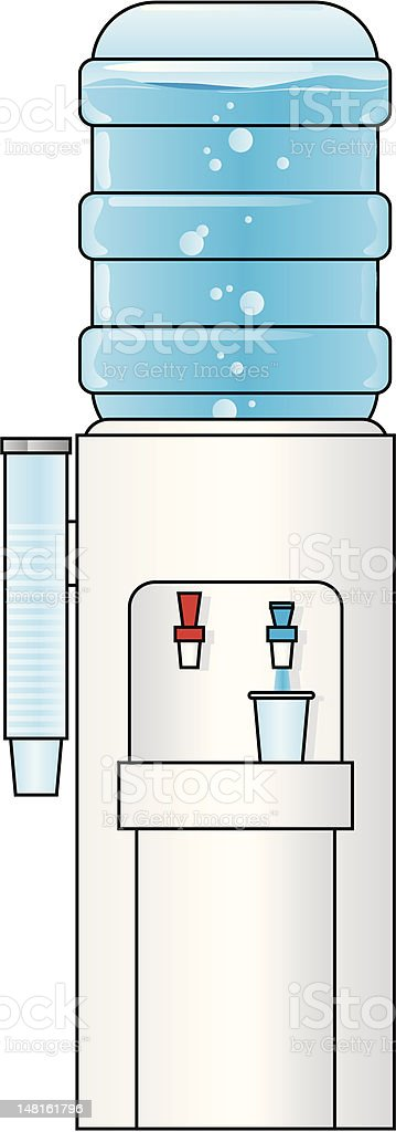 water cooler royalty-free stock vector art