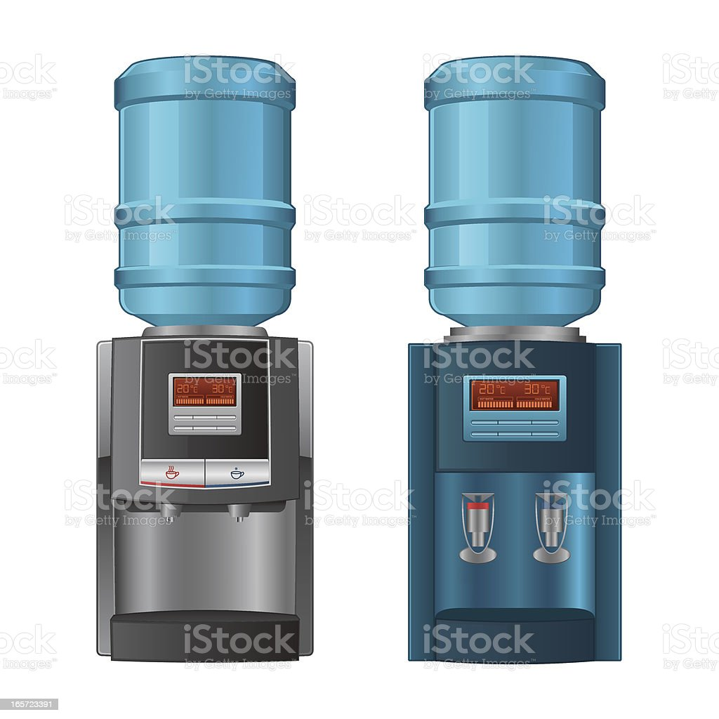 Water cooler vector art illustration