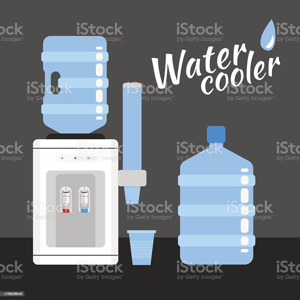 water cooler vector art illustration