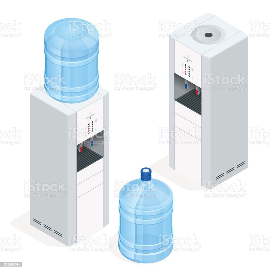 Water dispenser vector art illustration