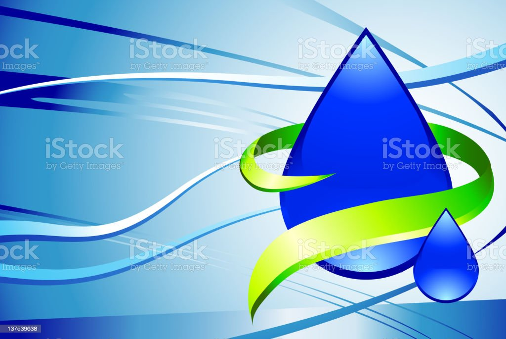Water drop Background royalty-free stock vector art
