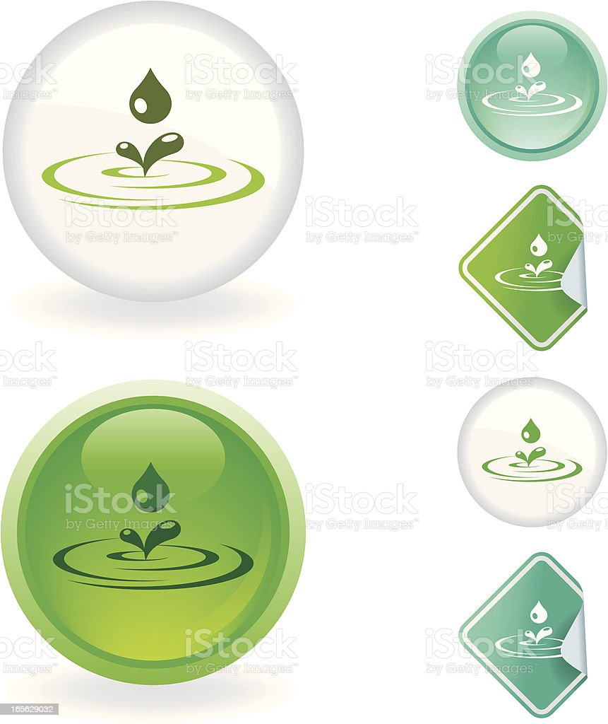 Water drop  icon | Ecological series vector art illustration