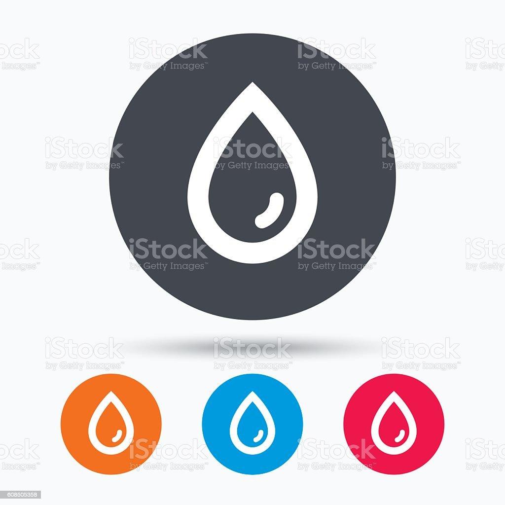Water drop icon. Natural aqua sign. vector art illustration