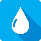 Water Drop Icon Silhouette