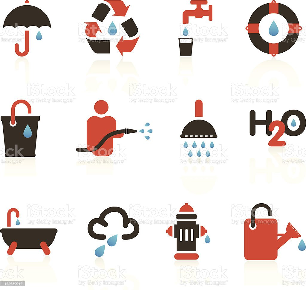 Water Drop Icons royalty-free stock vector art