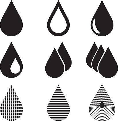 Water Drop Clip Art, Vector Images & Illustrations - iStock