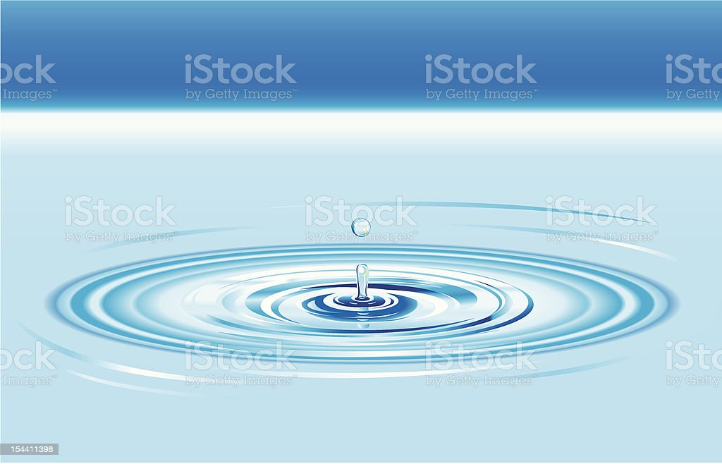 Water Drop Splash Crown vector art illustration