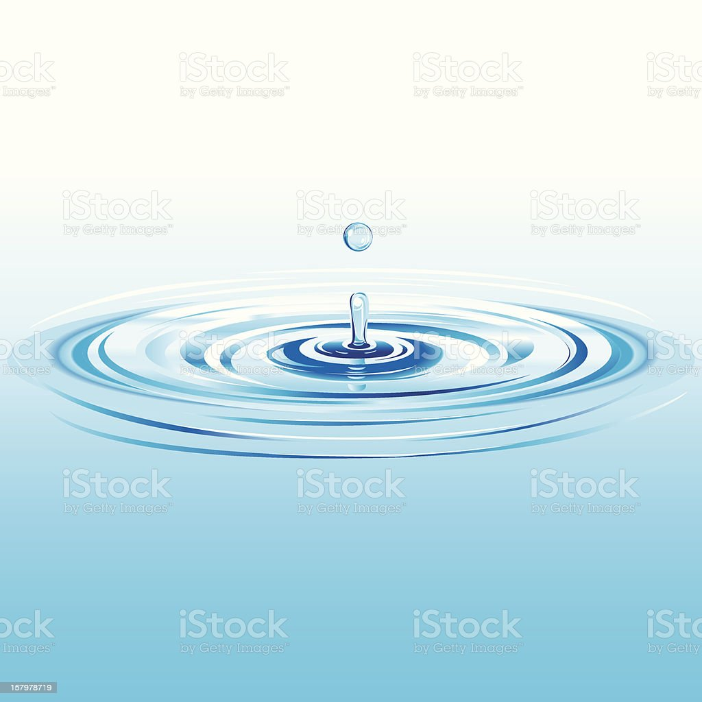 Water Drop Splash vector art illustration