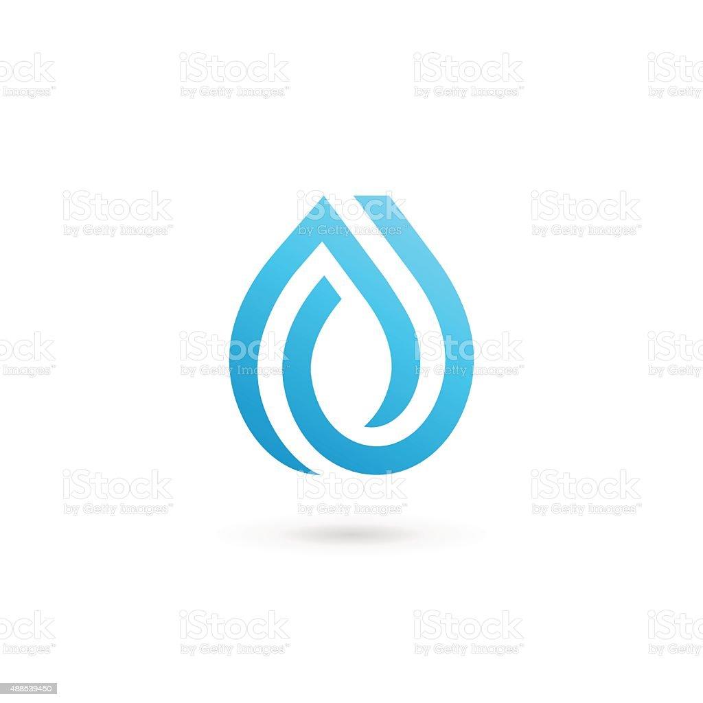 Water drop symbol design template icon vector art illustration