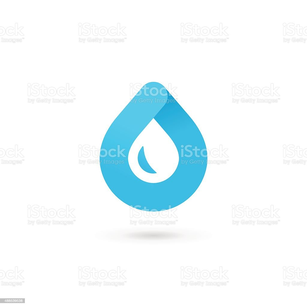 Water drop symbol design template icon vector art illustration