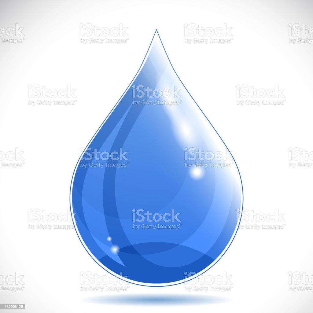 Water drop - vector illustration. royalty-free stock vector art