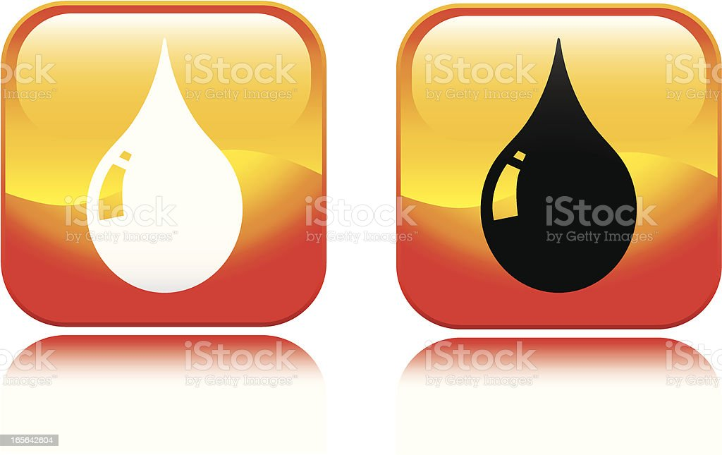 Water Droplet Icon royalty-free stock vector art