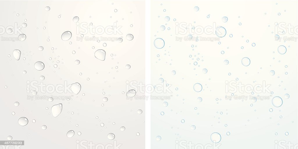 Water Drops and Bubbles royalty-free stock vector art