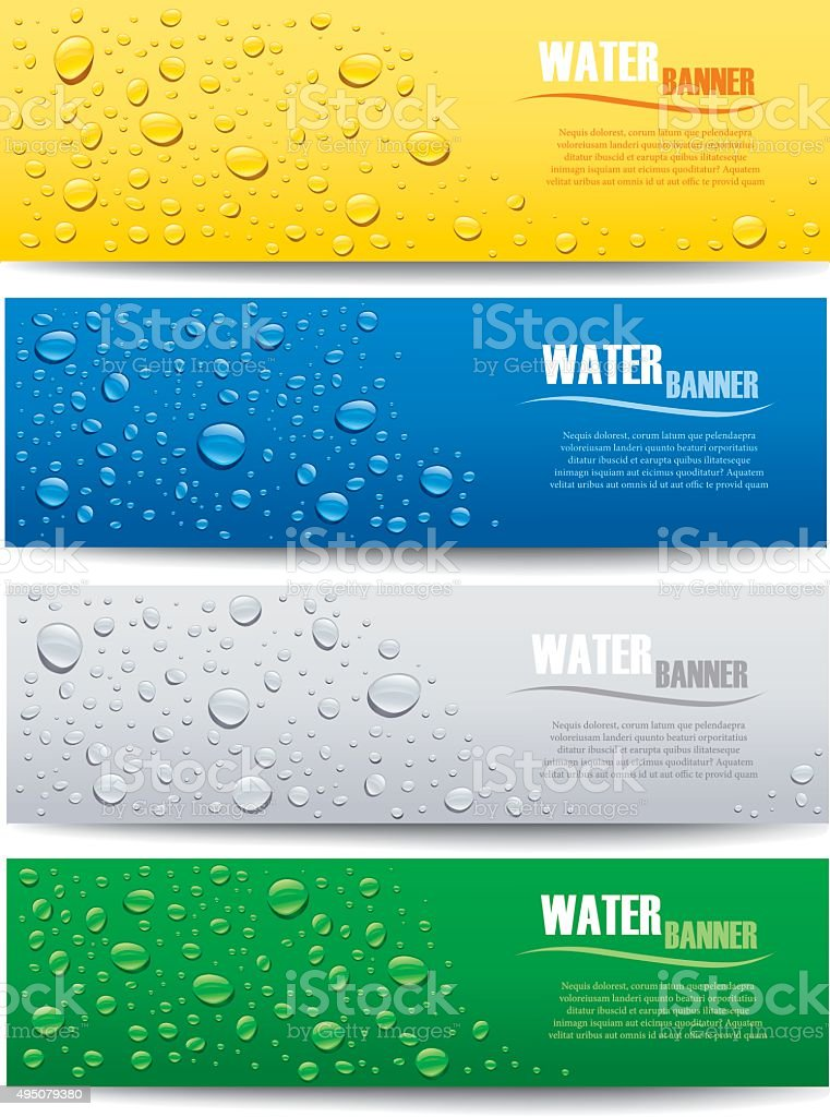 water drops on different color backgrounds vector art illustration
