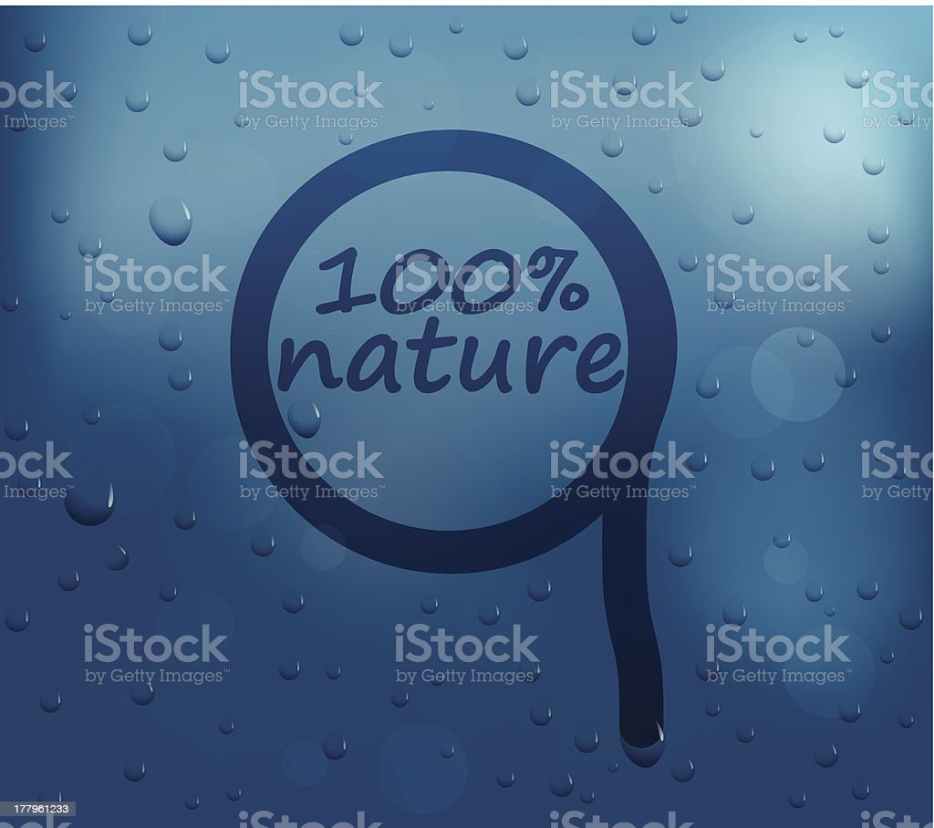 Water drops on glass royalty-free stock vector art