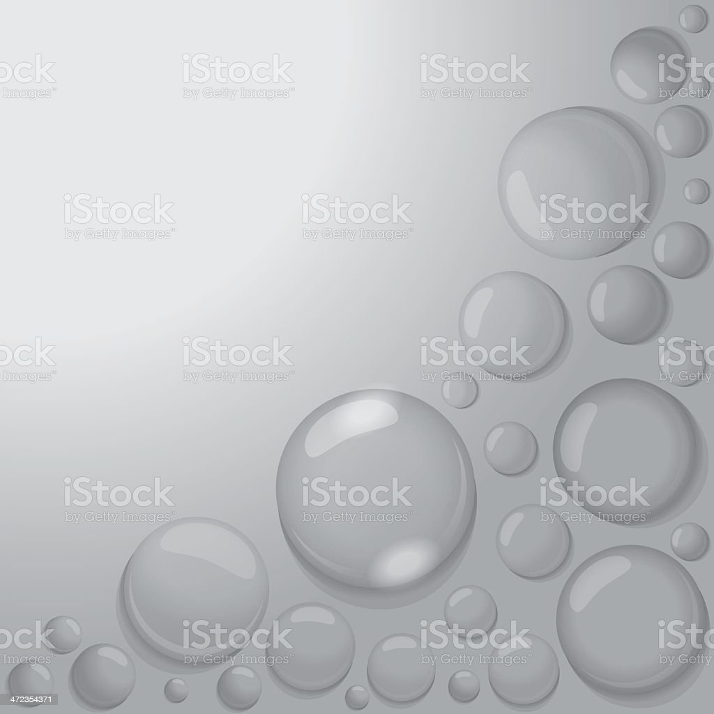 water drops on gray background royalty-free stock vector art