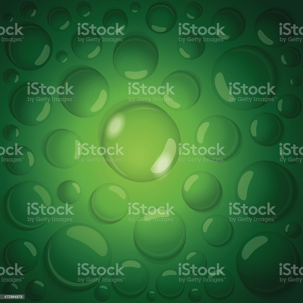 water drops on green background royalty-free stock vector art