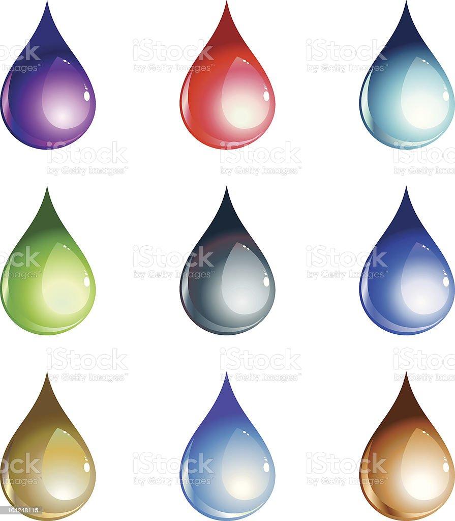 water drops set royalty-free stock vector art