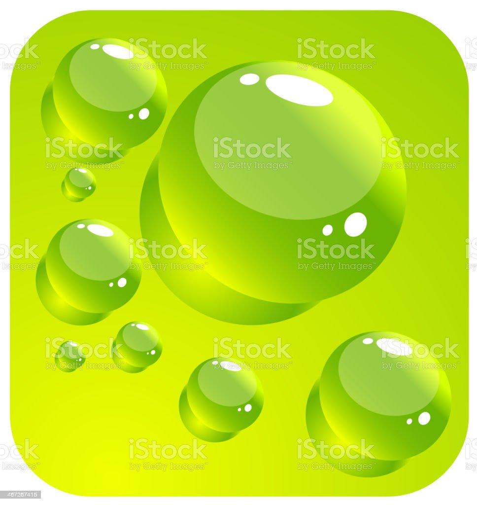Water drops royalty-free stock vector art