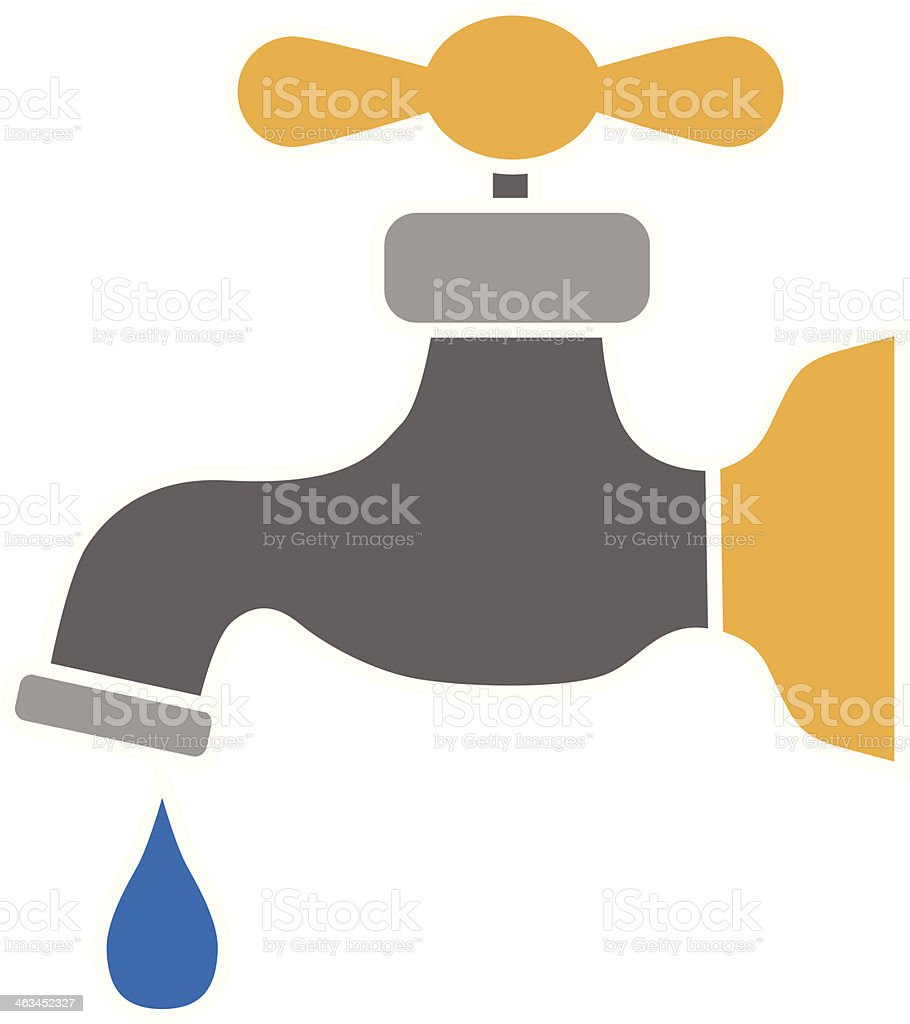 water faucet color vector art illustration