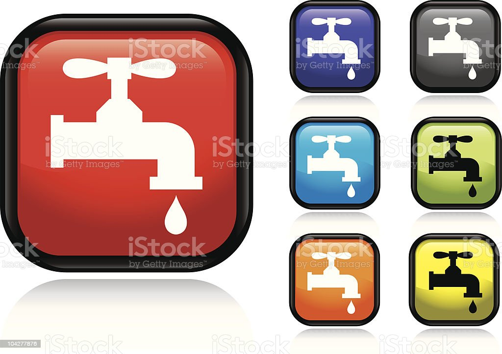 Water Faucet Icon royalty-free stock vector art