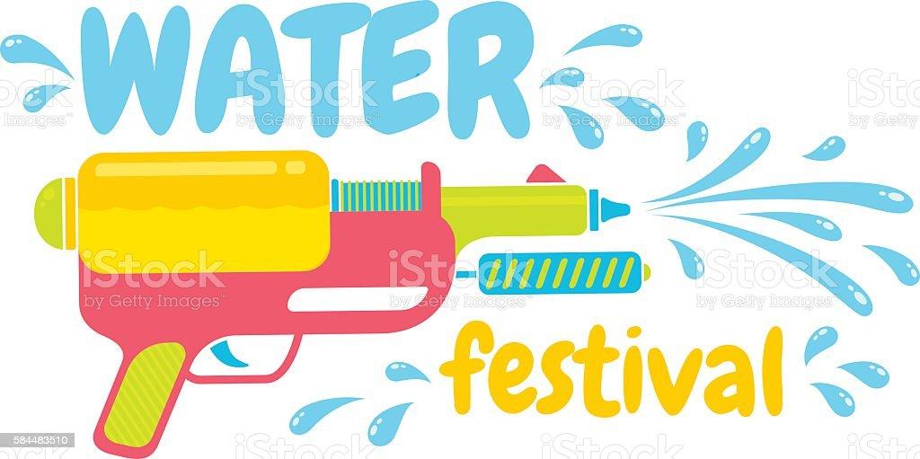 water festival vector art illustration