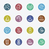 Water for life color circles set 2 line icon