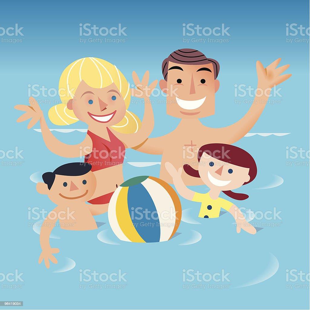 Water Fun royalty-free stock vector art