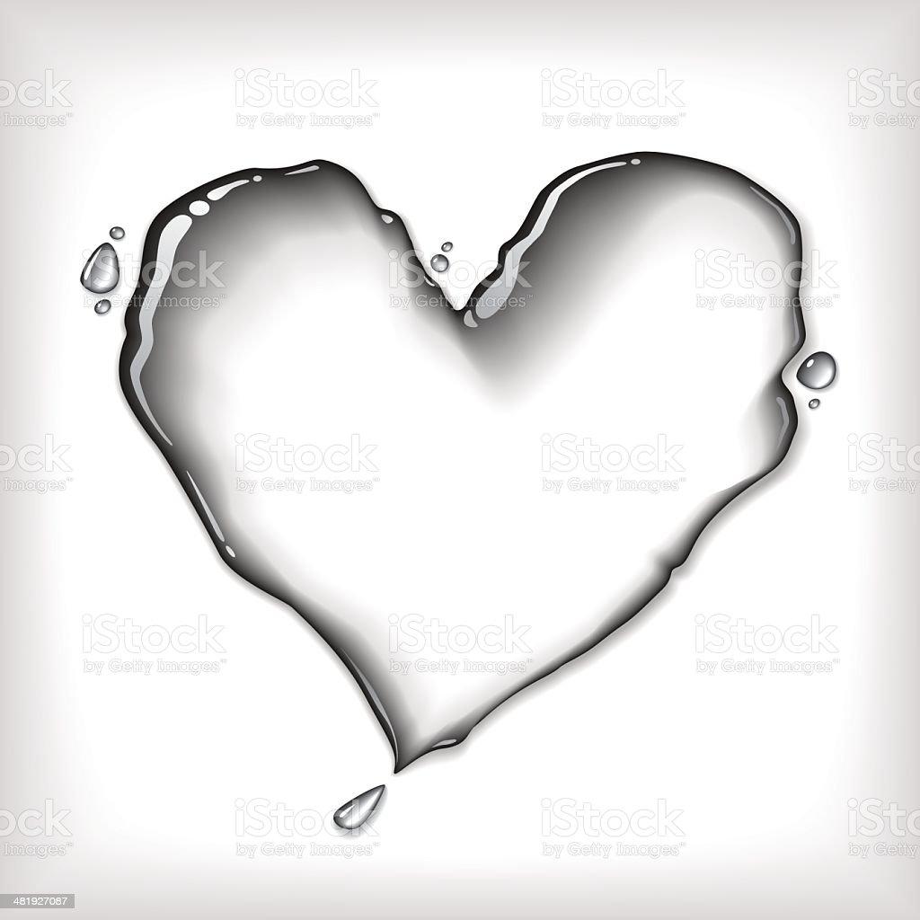 Water Hearth vector art illustration