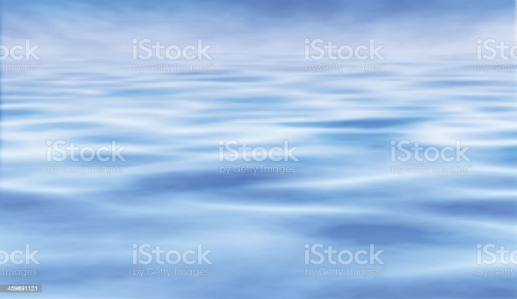 Water horizon vector art illustration